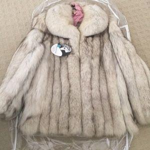 SAGA Fox fur coat- Blue Fox